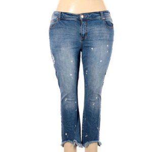 RWN by Rawan Medium Wash Straight Leg Jeans Sz 20